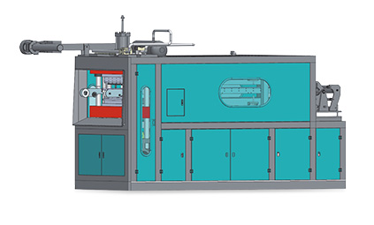 The plastic tank molding machine